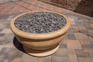 Pebbles modern builders supply mobile for Eldorado stone fire bowl