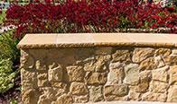 Franciscan Sandstone Wall, Franciscan Sandstone Bush Hammered Cap