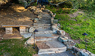 Shadow Grey Flagstone Stairway