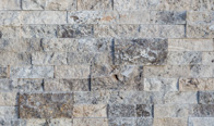 Silver Splitface Travertine Panel