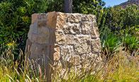 Franciscan Sandstone Battered Column